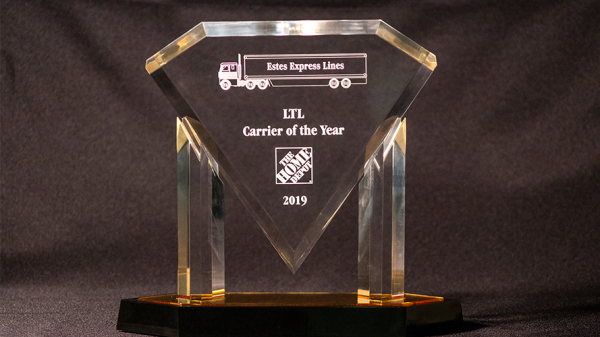 Estes Recognized As The Home Depot LTL Carrier of the Year
